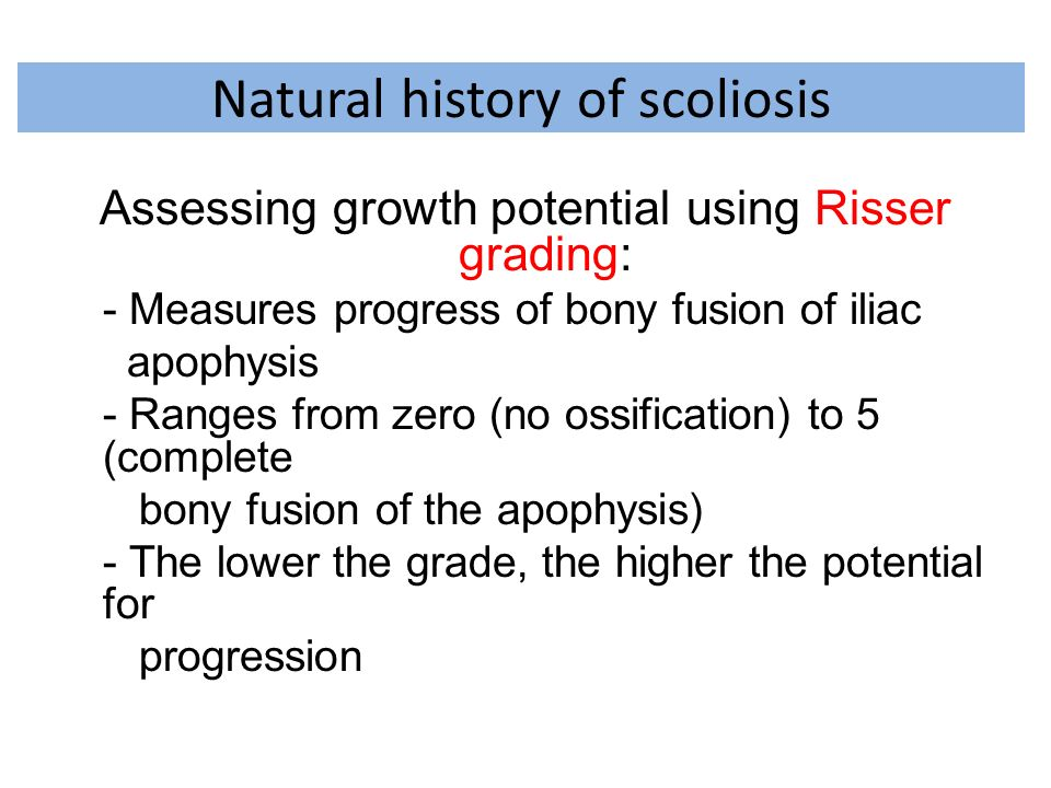 Natural history of scoliosis