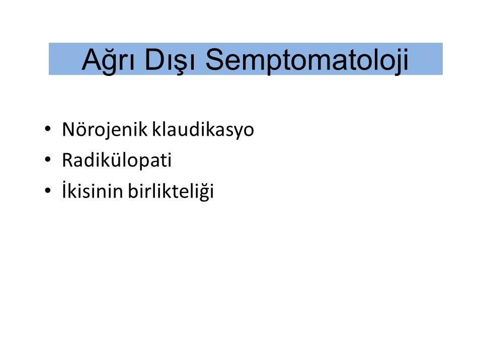 Ağrı Dışı Semptomatoloji