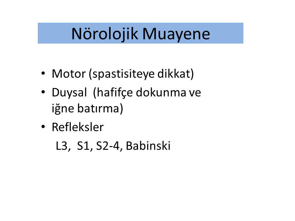 Nörolojik Muayene Motor (spastisiteye dikkat)