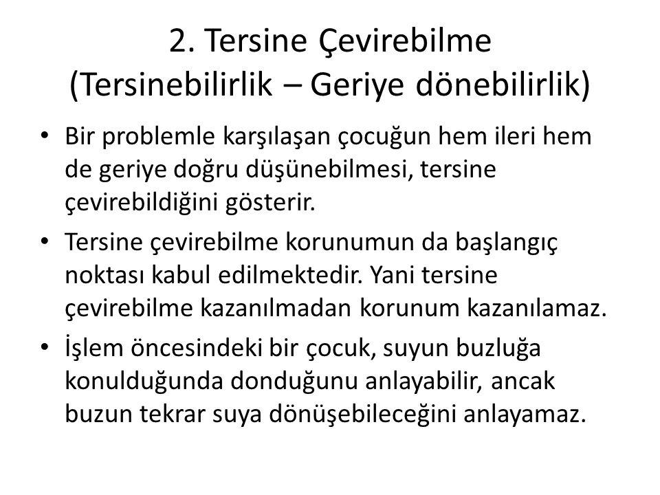 2. Tersine Çevirebilme (Tersinebilirlik – Geriye dönebilirlik)