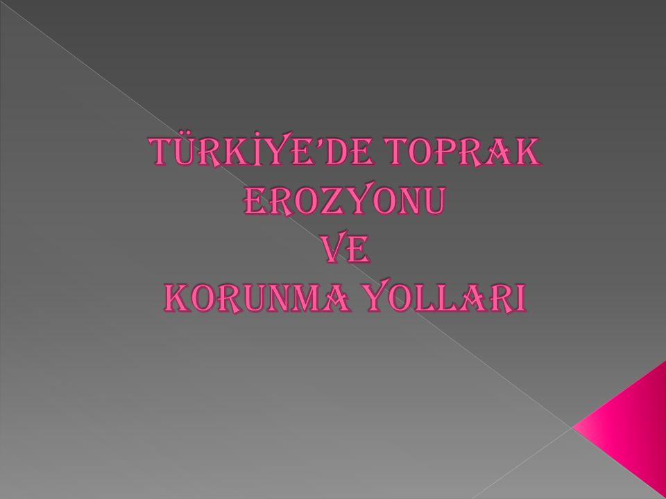 TÜRKİYE'DE TOPRAK EROZYONU VE KORUNMA YOLLARI