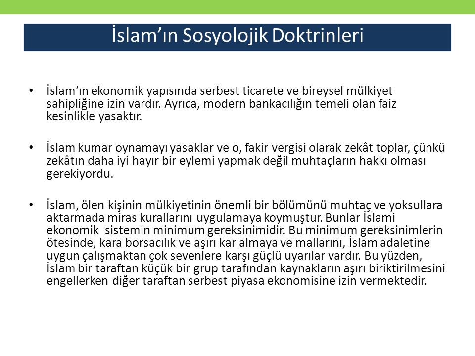 İslam'ın Sosyolojik Doktrinleri