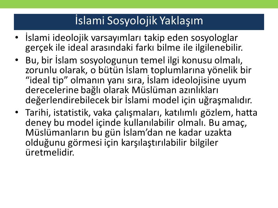 İslami Sosyolojik Yaklaşım