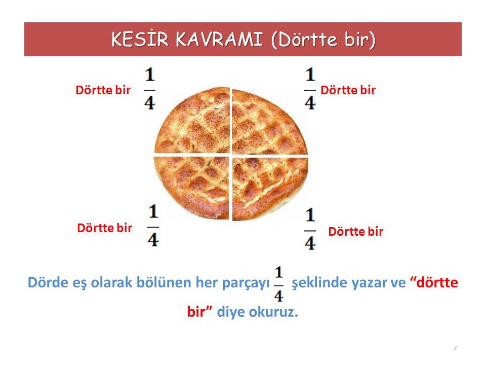 KESİR KAVRAMI (Dörtte bir)