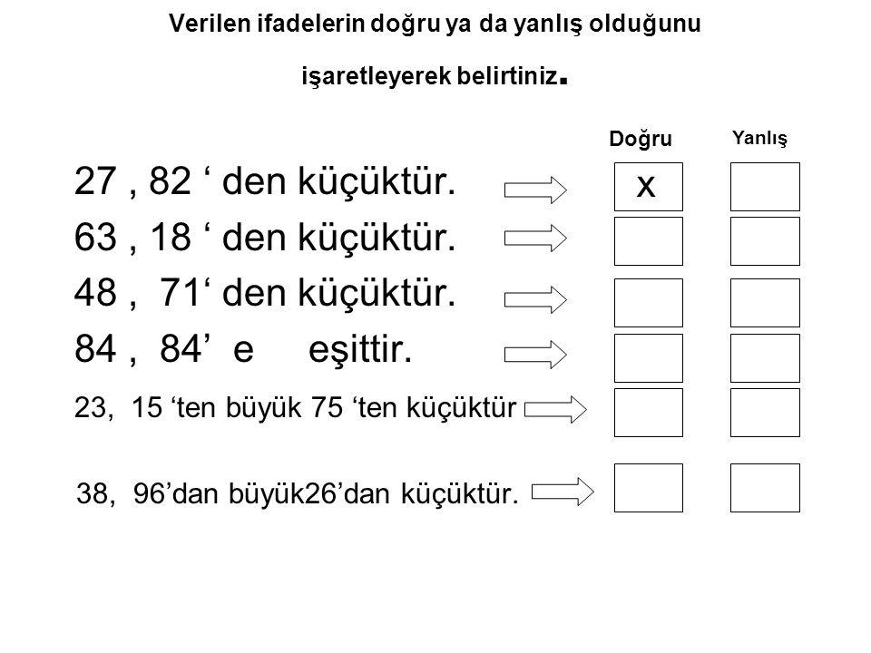 23, 15 'ten büyük 75 'ten küçüktür x