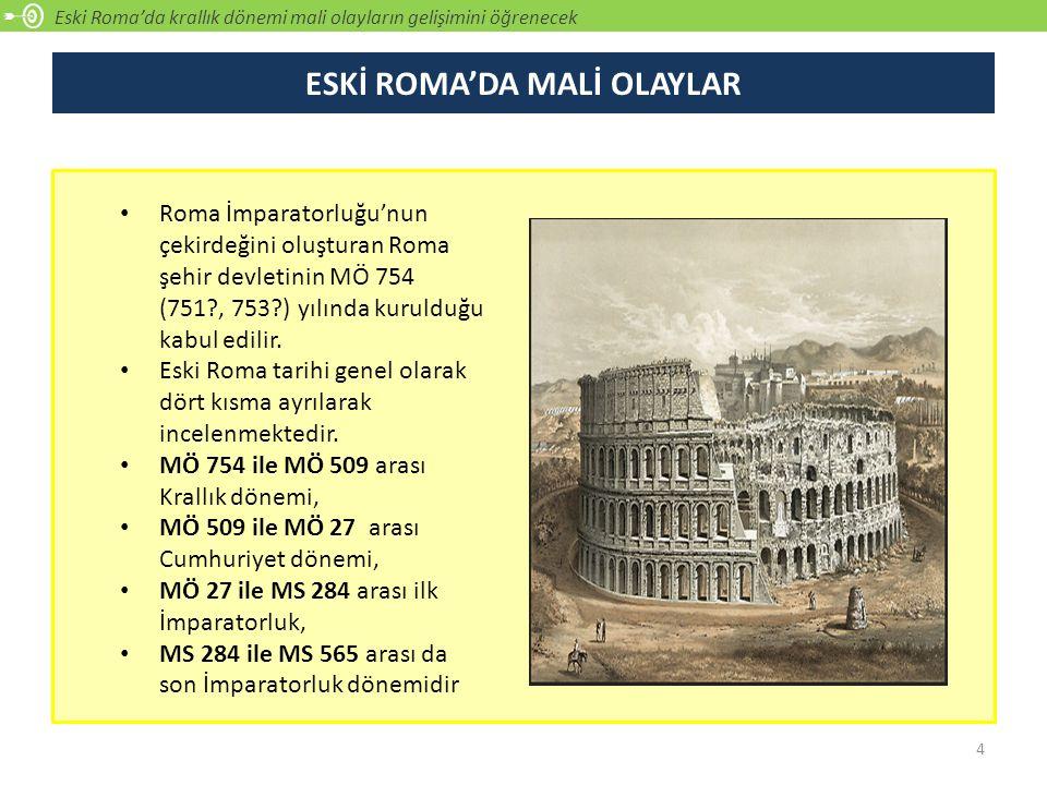 ESKİ ROMA'DA MALİ OLAYLAR