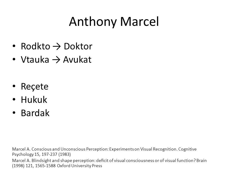 Anthony Marcel Rodkto → Doktor Vtauka → Avukat Reçete Hukuk Bardak