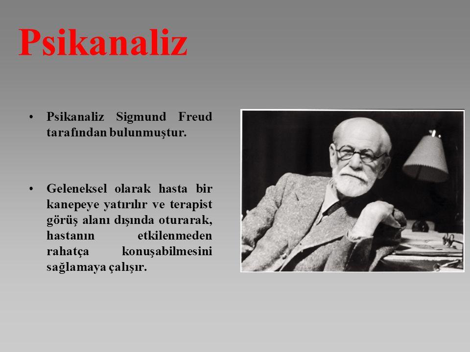 Psikanaliz Psikanaliz Sigmund Freud tarafından bulunmuştur.