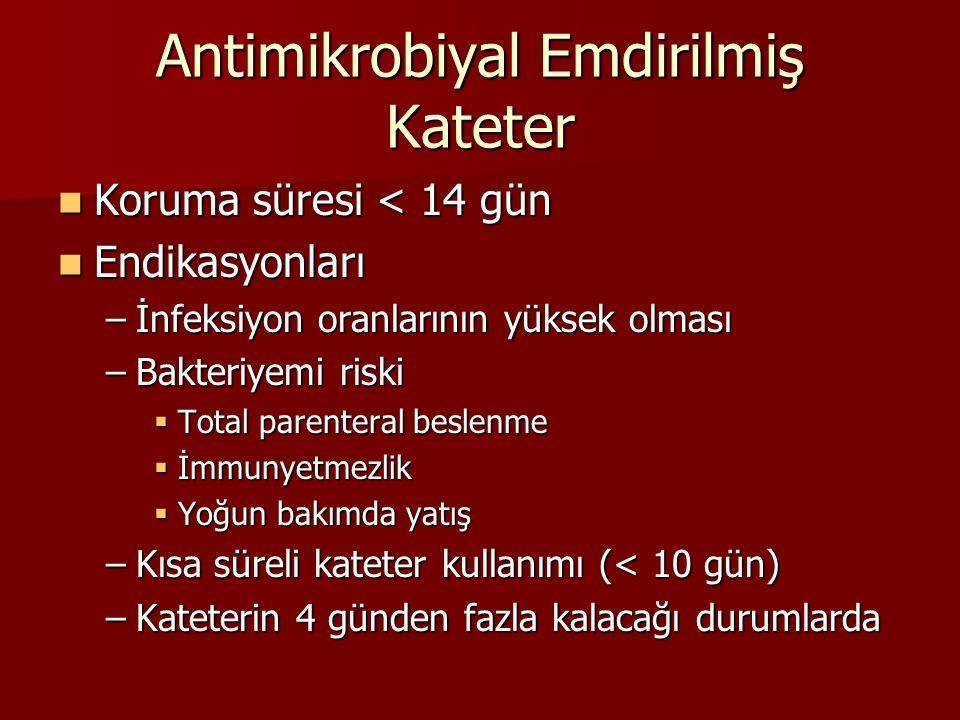Antimikrobiyal Emdirilmiş Kateter