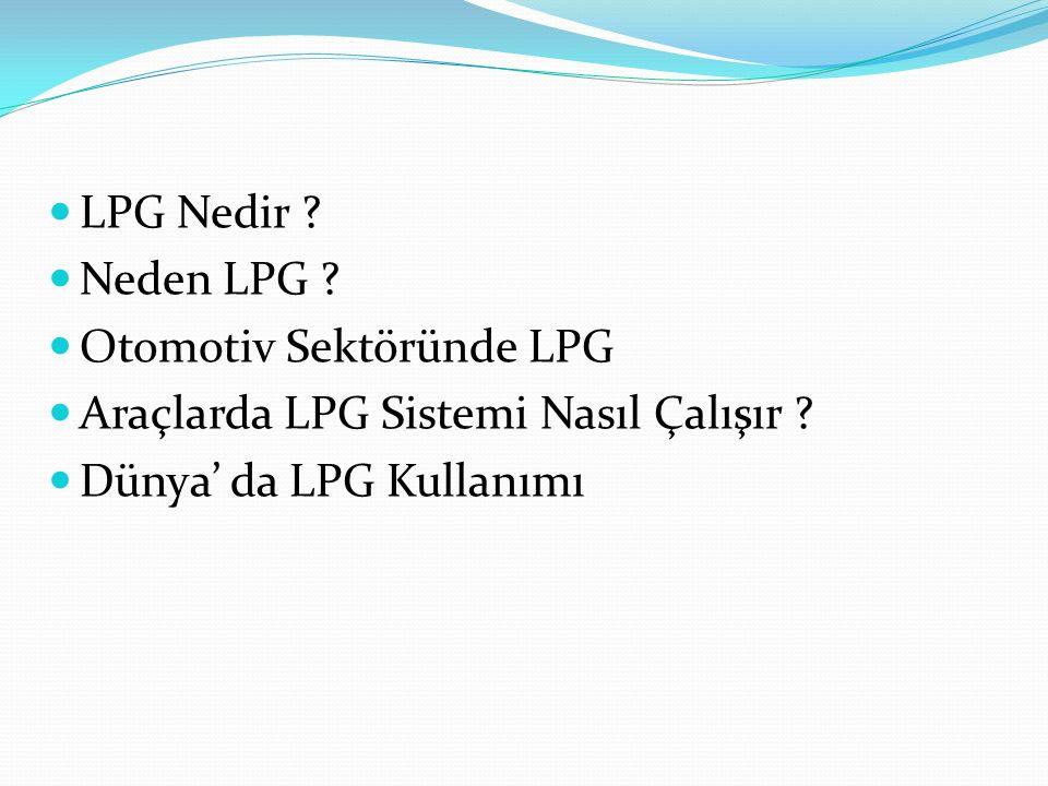 LPG Nedir . Neden LPG . Otomotiv Sektöründe LPG.