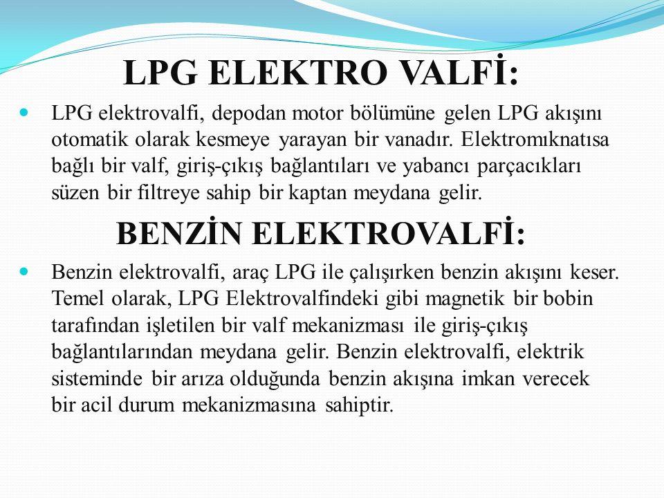 LPG ELEKTRO VALFİ: BENZİN ELEKTROVALFİ: