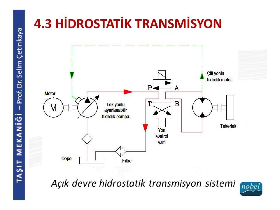 Açık devre hidrostatik transmisyon sistemi