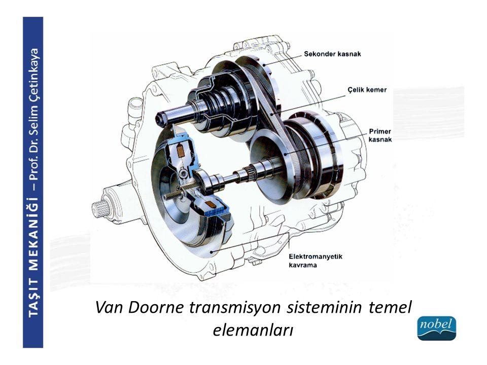 Van Doorne transmisyon sisteminin temel elemanları