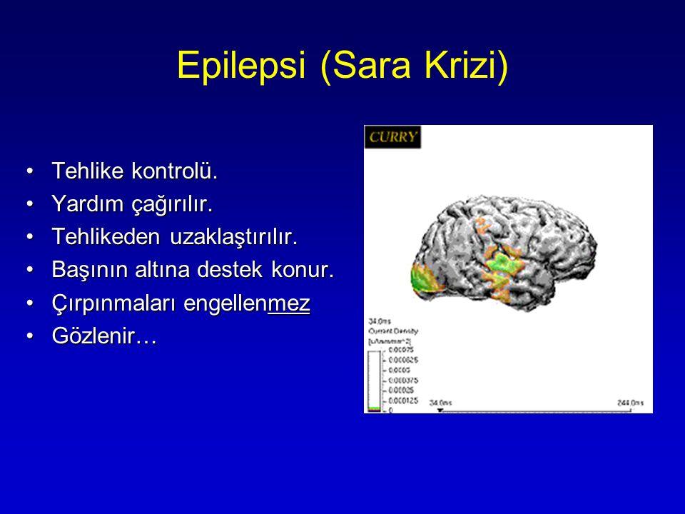 Epilepsi (Sara Krizi) Tehlike kontrolü. Yardım çağırılır.