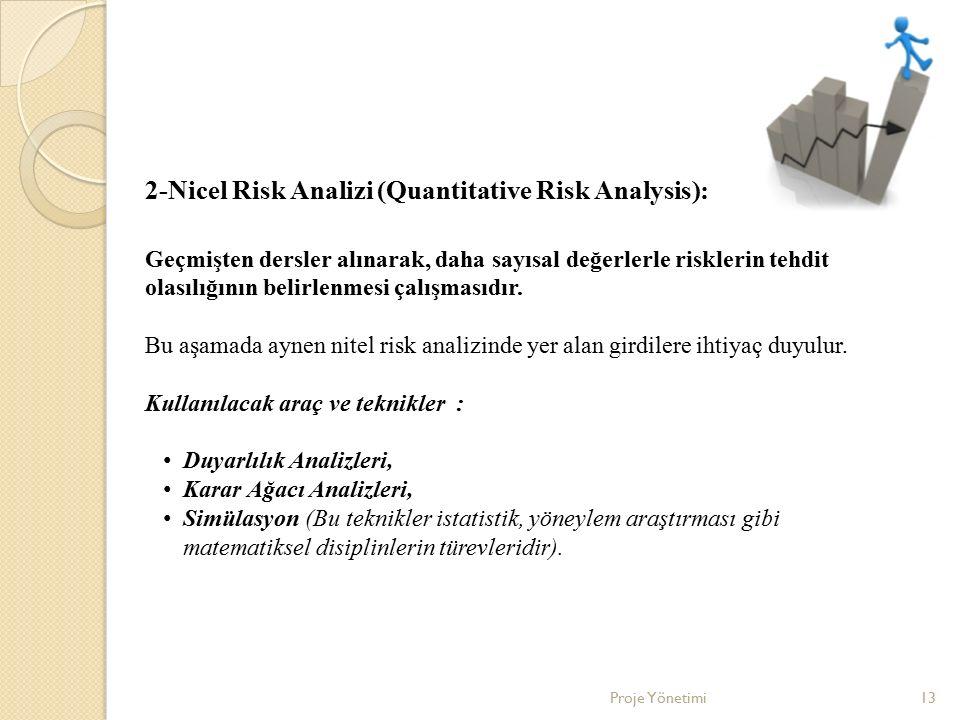 2-Nicel Risk Analizi (Quantitative Risk Analysis):