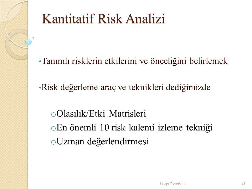 Kantitatif Risk Analizi