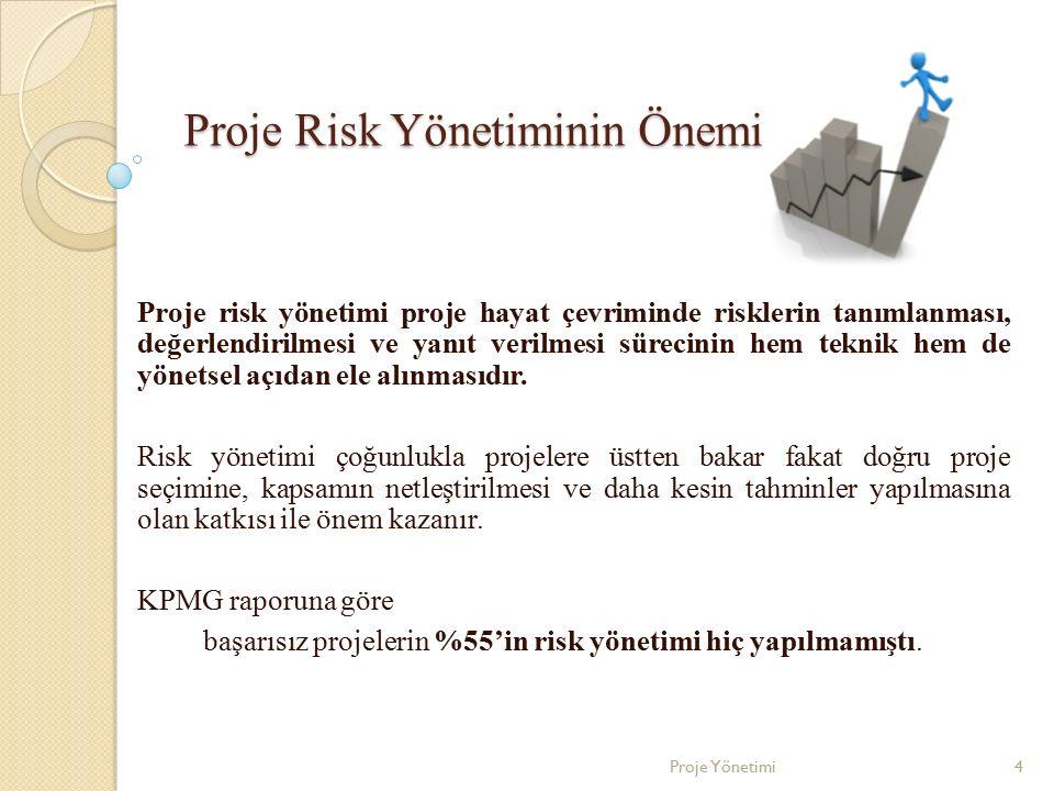 Proje Risk Yönetiminin Önemi