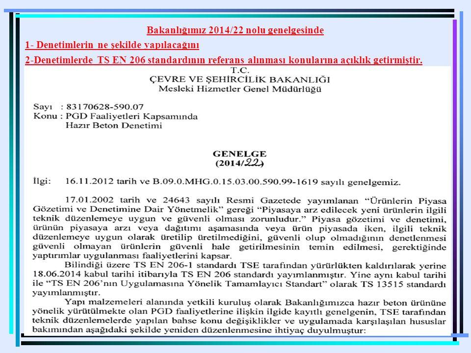 Bakanlığımız 2014/22 nolu genelgesinde