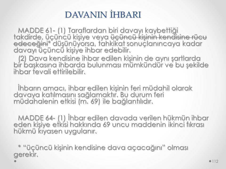DAVANIN İHBARI