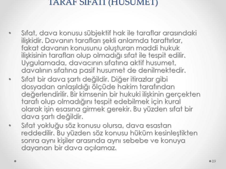 TARAF SIFATI (HUSUMET)