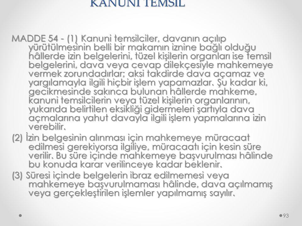 KANUNİ TEMSİL