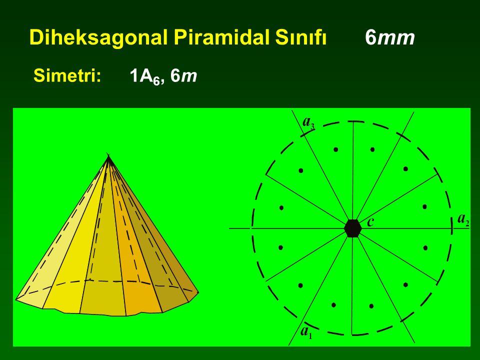 Diheksagonal Piramidal Sınıfı 6mm