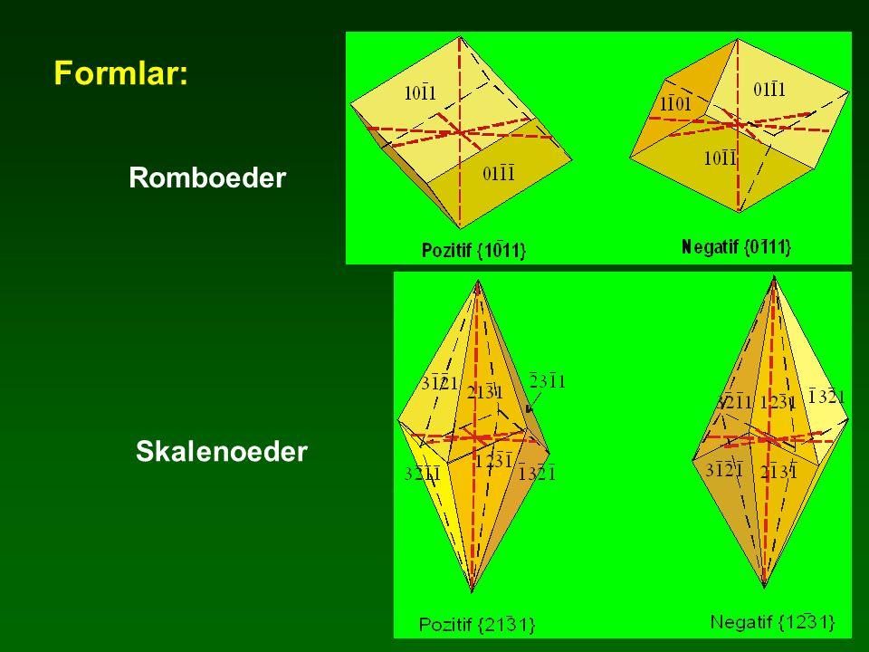 Formlar: Romboeder Skalenoeder