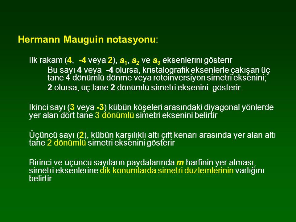 Hermann Mauguin notasyonu: