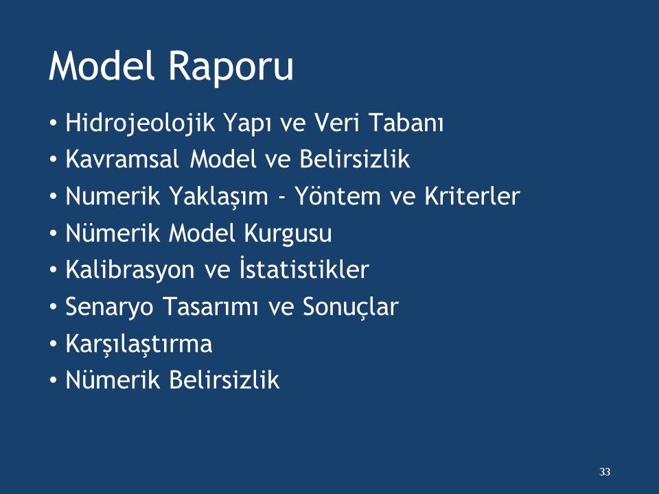 Model Raporu Hidrojeolojik Yapı ve Veri Tabanı