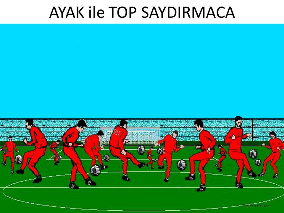 AYAK ile TOP SAYDIRMACA