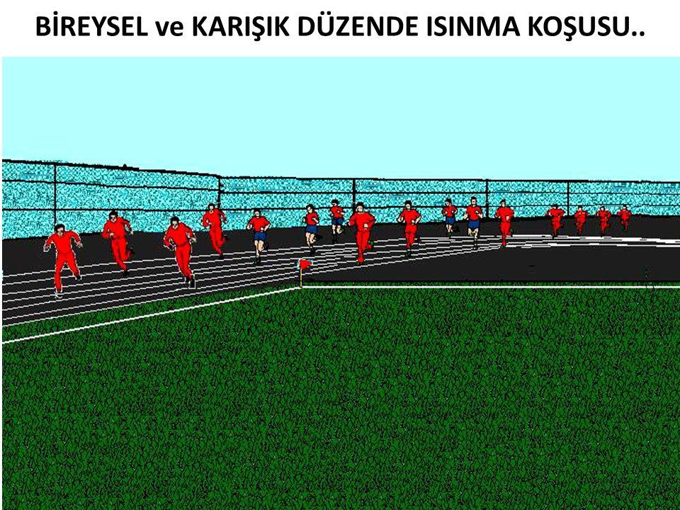 BİREYSEL ve KARIŞIK DÜZENDE ISINMA KOŞUSU..