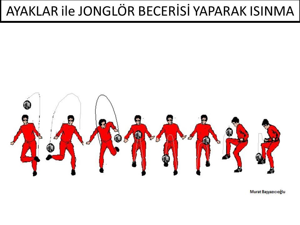 AYAKLAR ile JONGLÖR BECERİSİ YAPARAK ISINMA