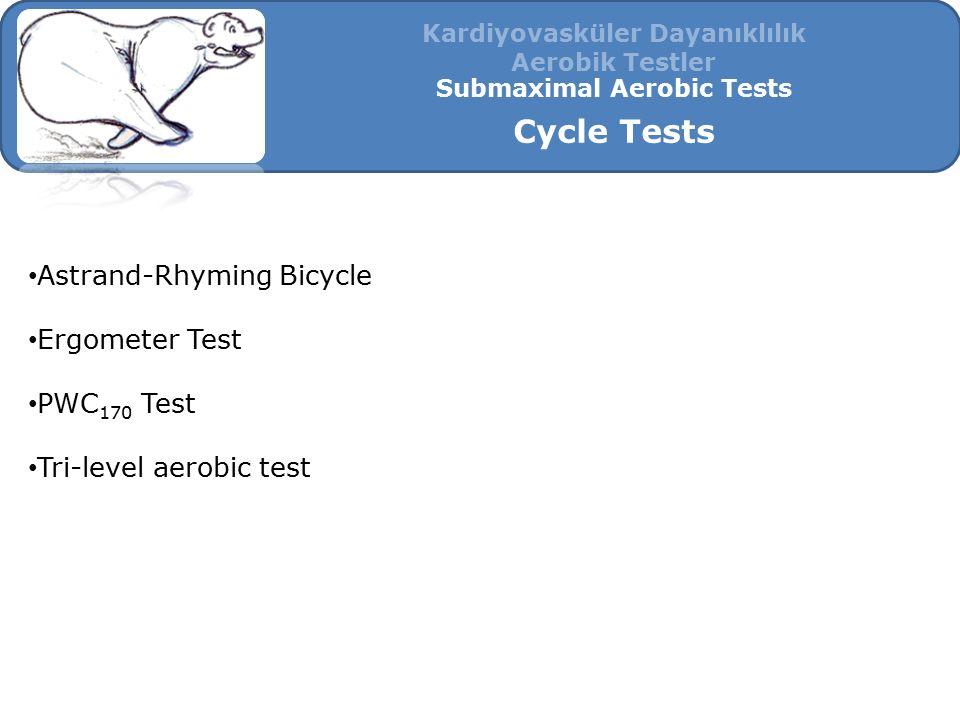Kardiyovasküler Dayanıklılık Submaximal Aerobic Tests