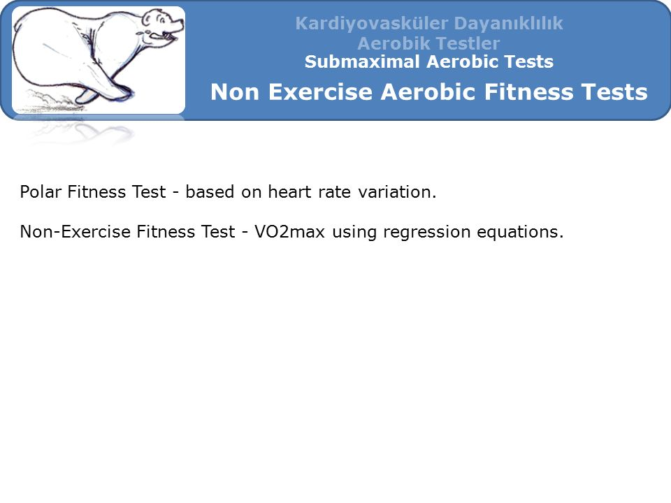 Non Exercise Aerobic Fitness Tests