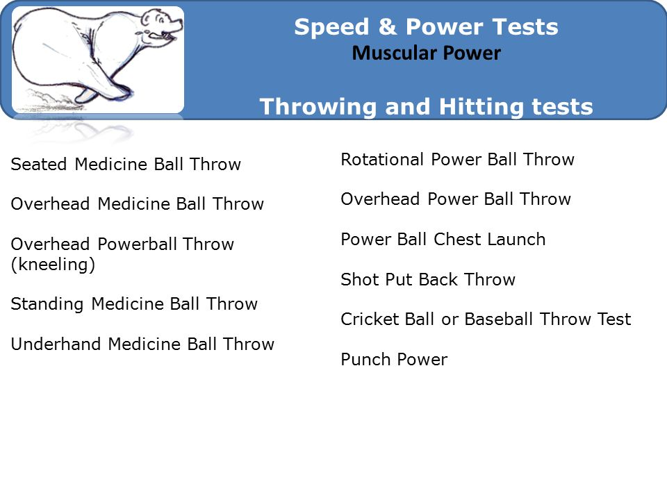 Throwing and Hitting tests
