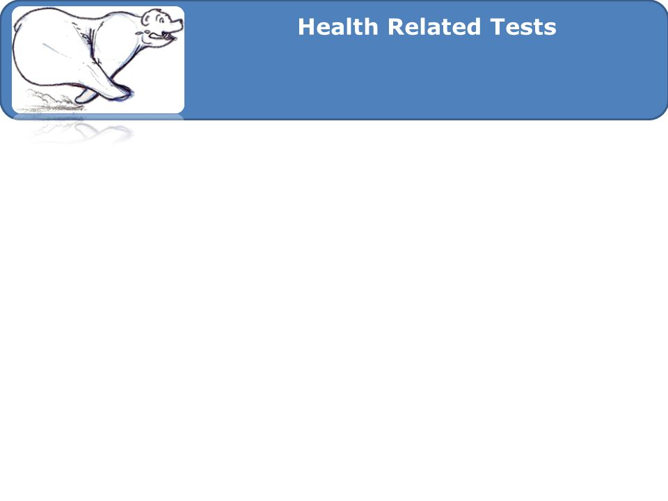 Health Related Tests