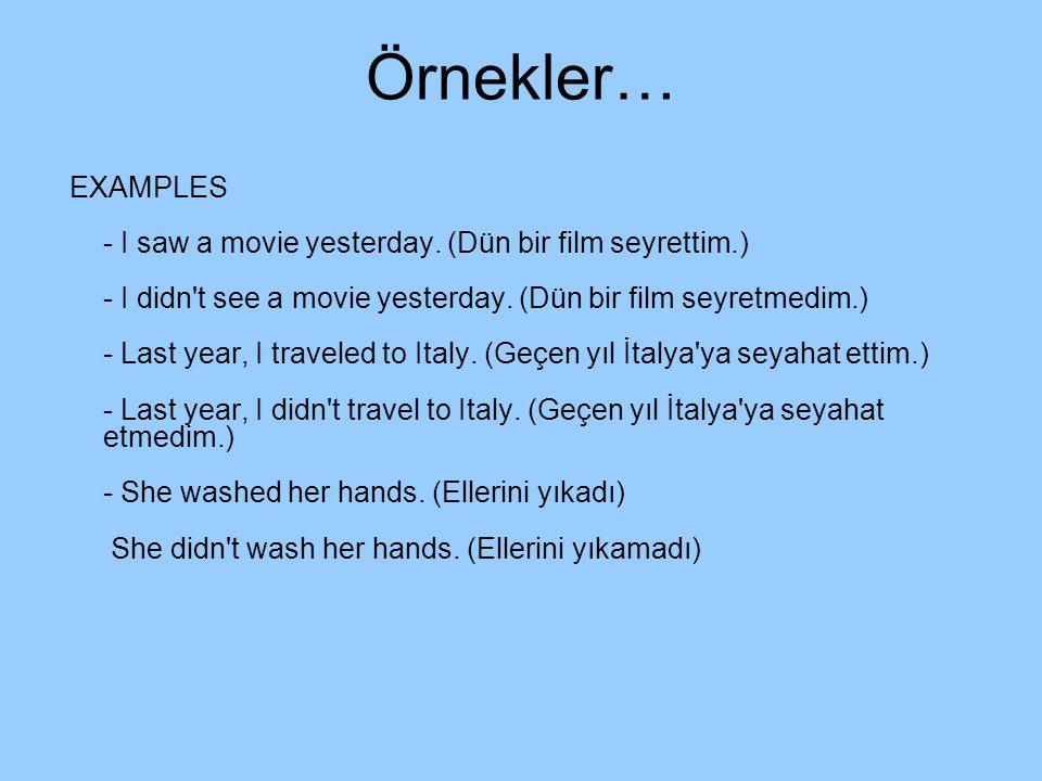 Örnekler…