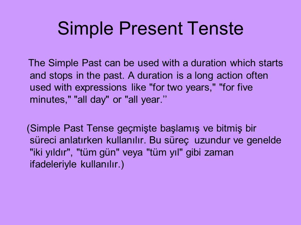 Simple Present Tenste