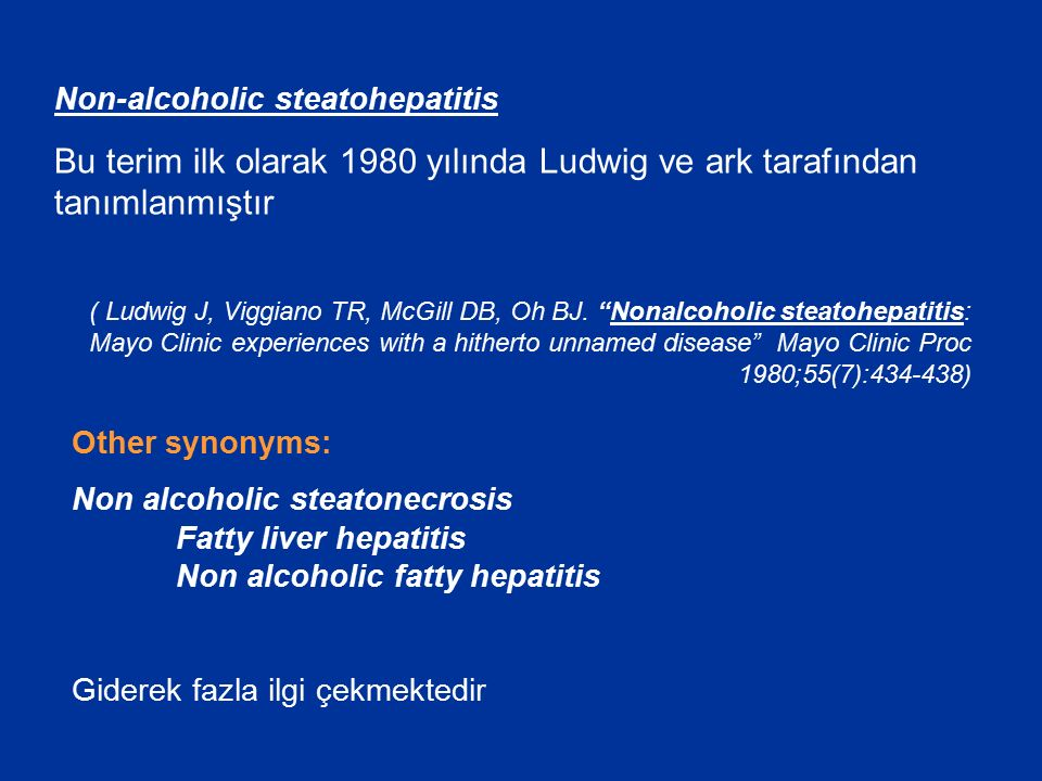 Non-alcoholic steatohepatitis