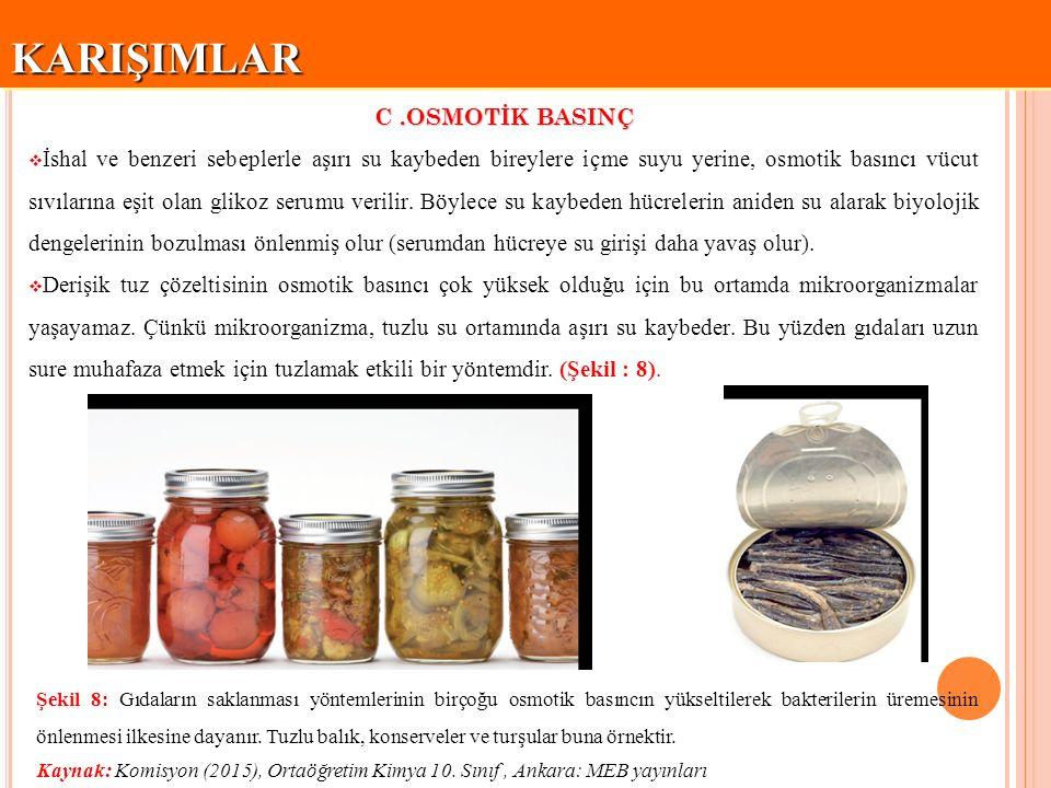 KARIŞIMLAR C .OSMOTİK BASINÇ