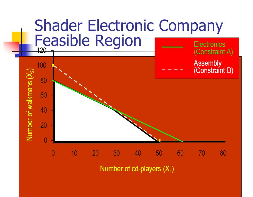 Shader Electronic Company Feasible Region