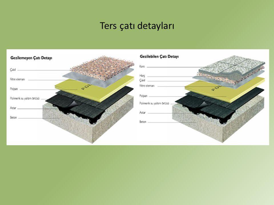 Ters çatı detayları