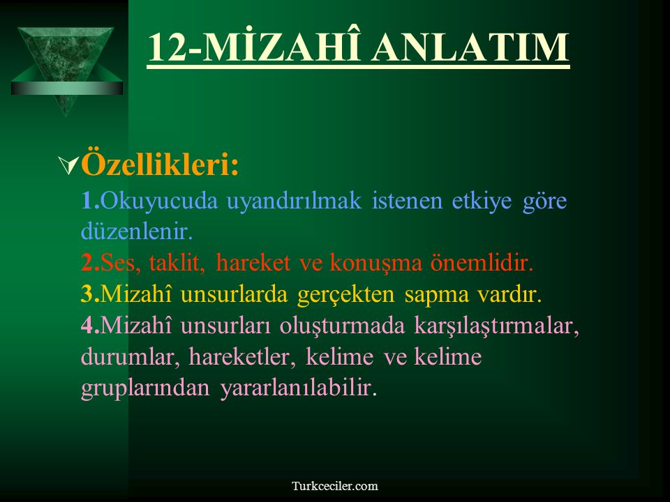 12-MİZAHÎ ANLATIM