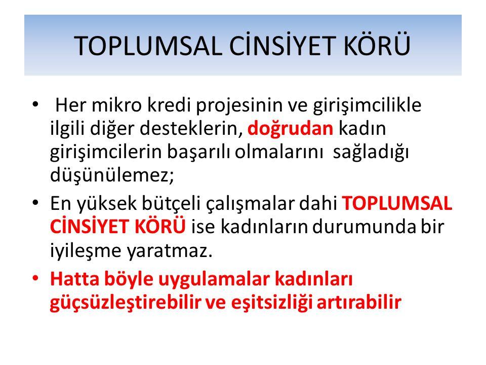 TOPLUMSAL CİNSİYET KÖRÜ