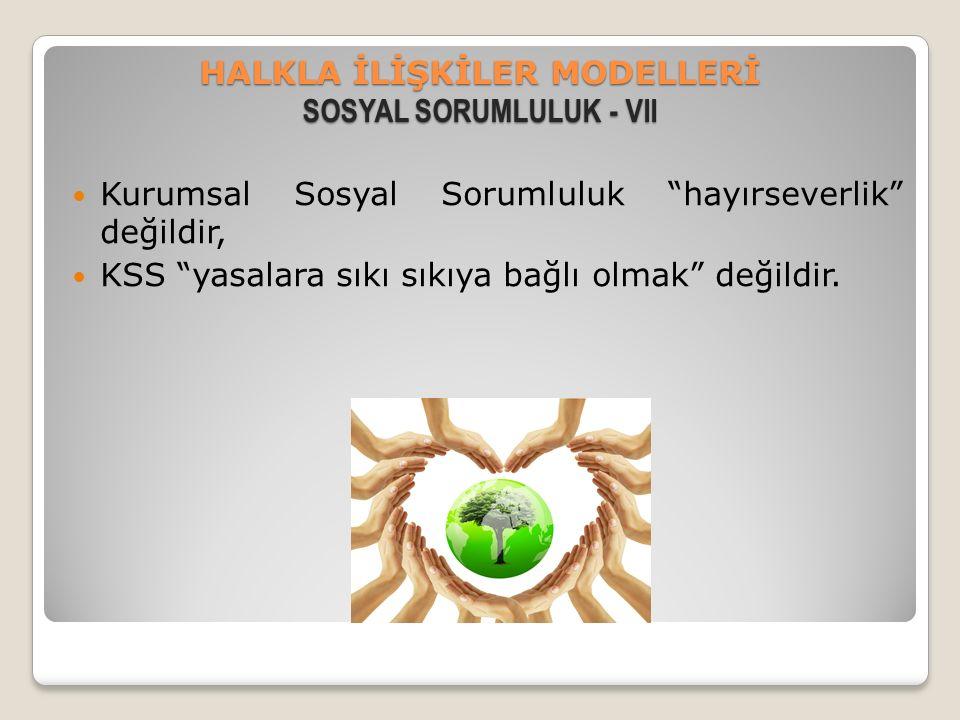 HALKLA İLİŞKİLER MODELLERİ SOSYAL SORUMLULUK - VII