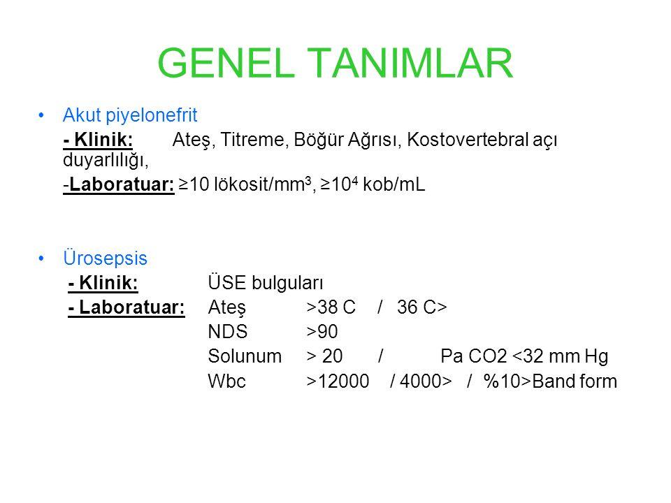 GENEL TANIMLAR Akut piyelonefrit