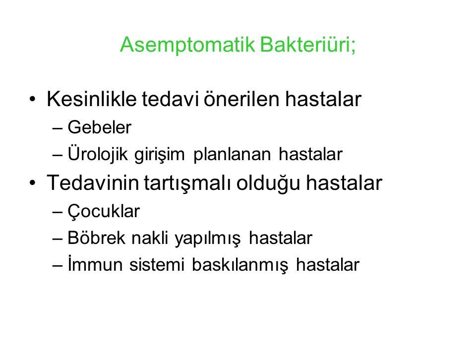 Asemptomatik Bakteriüri;