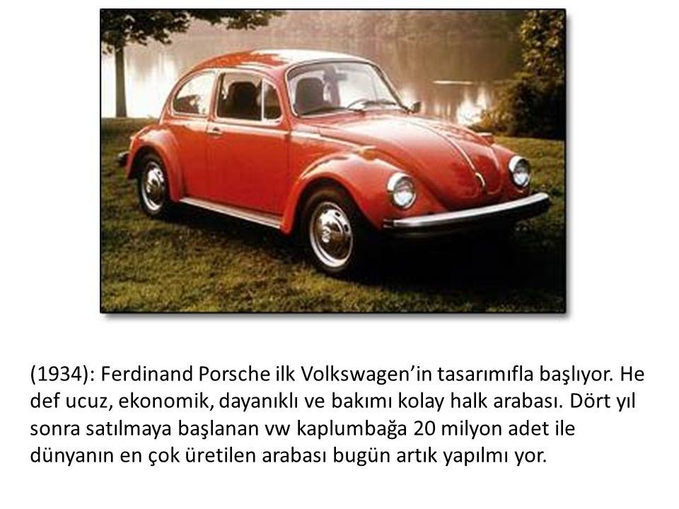 (1934): Ferdinand Porsche ilk Volkswagen'in tasarımıfla başlıyor