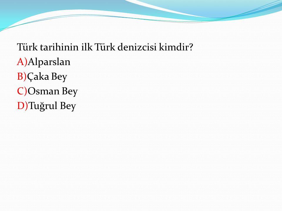 Türk tarihinin ilk Türk denizcisi kimdir