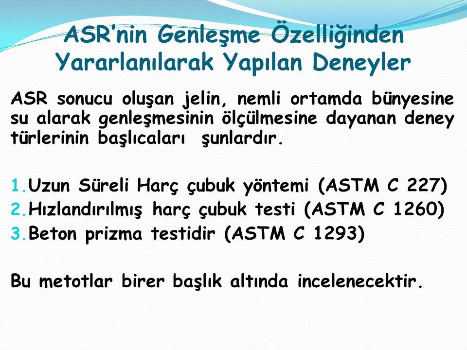 ASR'nin Genleşme Özelliğinden Yararlanılarak Yapılan Deneyler